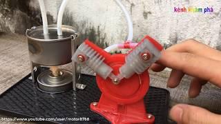 động cơ hơi nước mini - Mini steam engine