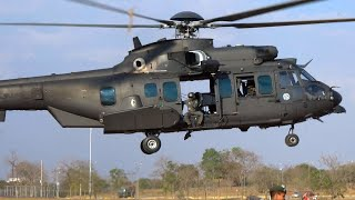 Big Helicopter of the Brazilian Army EC725 Engine Startup and Takeoff Video