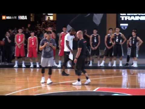 Kyrie Irving Taipei Tour (2017) Showing off Ball Handling Skills - Euro Steps - 3pts Shooting