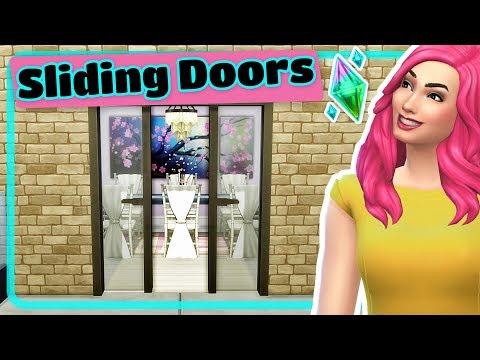 The Sims 4 Sliding Glass Doors And Sliding Barn Doors Tutorial