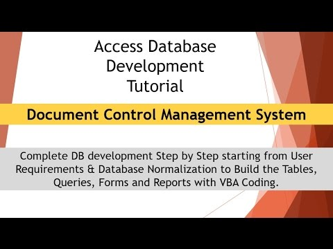 Document Control Management System Tutorial 1