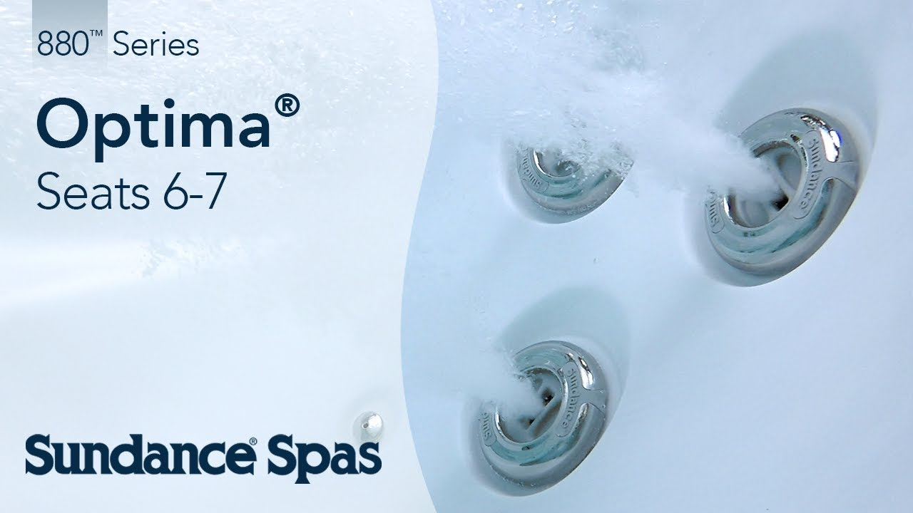 Optima® Hot Tubs: 880™ Series Spa (seats 7) - YouTube