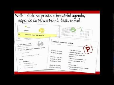 The Best Online Meeting Agenda Maker - from http://effectiveagenda.com