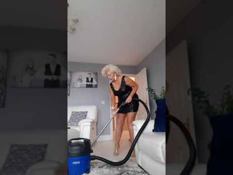 Marilyn hoovering her condo
