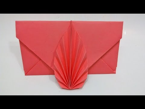 DIY Origami Envelope - Envelope making with paper without Scissors Glue and Tape