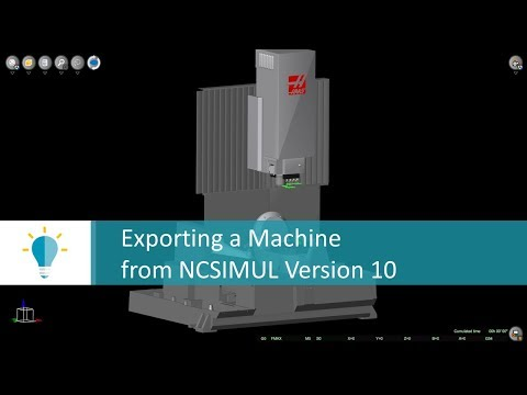 Export a Machine from NCSIMUL | Tutorial