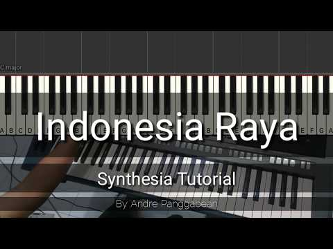 Indonesia Raya | Piano Synthesia Tutorial By Andre Panggabean