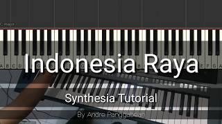 Indonesia Raya   Piano Synthesia Tutorial by Andre Panggabean