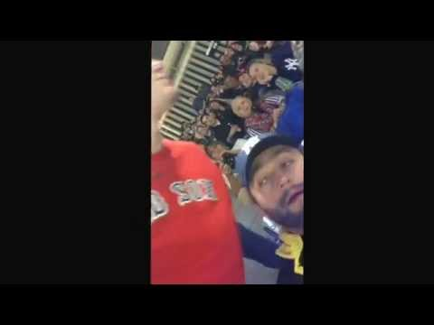 Boston Red Sox fan gets heckled at Yankee Stadium