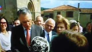SIC - O Pesidente da Republica visitou a Igreja de S. Martinho de Mouros Resende, Rota do Romanico