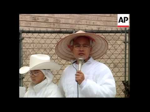 USA: GARLAND: TAIWANESE CULT GROUP PRESS CONFERENCE