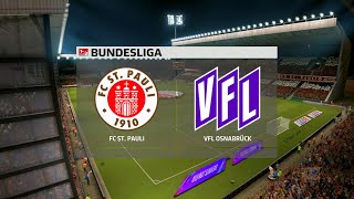 A simulation of the upcoming match in 2. bundesliga, st pauli vs vfl osnabruck. osnabruck - bundesliga (27/11/2020) all goals & exte...
