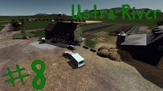 Fields, Farmhouse, Barn - Ustra-River   S2 EP8   Cities Skylines