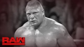 Brock Lesnar is out for vengeance in the 2017 Royal Rumble Match: Raw, Dec. 26, 2016