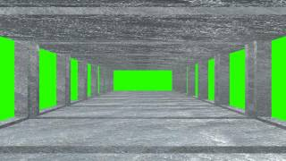 3d ice hall green screen free royalty footage