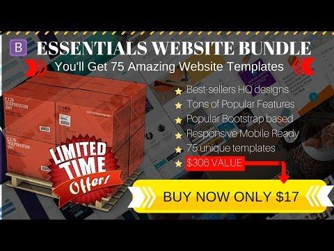 130 Essentials Templates Bundle DEAL Website Templates Creative