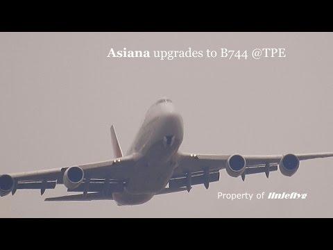 Asiana upgrades to B744 @TPE