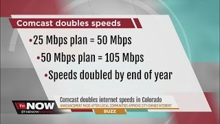 Comcast doubles internet speeds in the wake of local communities deregulating ISP rules