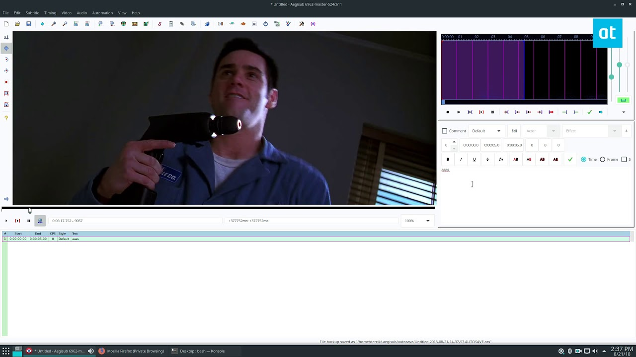 How To Edit Subtitles In Movies On Linux With Aegisub