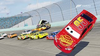 Lighting McQueen Crashes Hard! | Forza Motorsport 6 | NASCAR Expansion