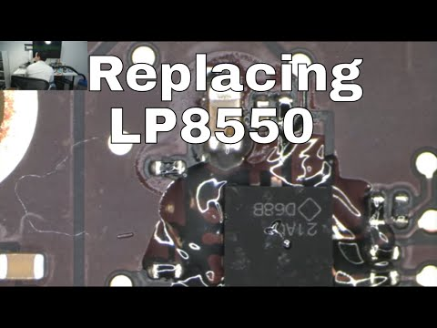 How to solder WLED driver LP8550 BGA chip on a Macbook Air