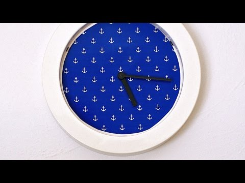Make a Cool Designer Wall Clock - Home - Guidecentral