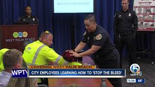 West Palm Beach city employees learning how to 'Stop the Bleed'