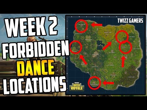 Fortnite: 'Dance in different forbidden Locations' Week 2 Challenges Quick Tutorials BATTLE ROYALE