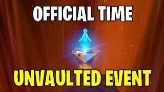 Fortnite: Official Event Times! (NEXUS/VOLCANO EVENT) LEAKED SOUND/AUDIO FILES