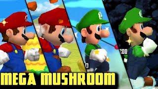 Evolution of Mega Mushrooms in Super Mario Series! (2004 - 2013)