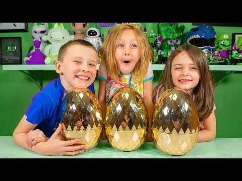 Golden Surprise Eggs W/ Fun Toys & Blind Bags For Boys & Girls | Kinder Playtime It's A Toy Party!