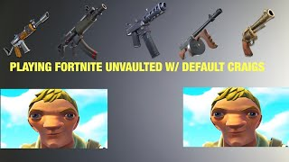 Fortnite unvaulted GAMEPLAY W/ Both default Craig's skin