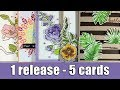 1 release - 5 cards | Altenew blog hop & Giveaway