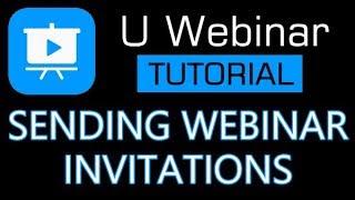 U Webinar Tutorial - How to invite people to watch your live webinar screenshot 5