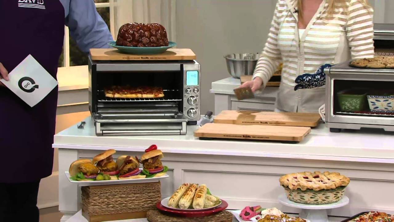 breville stainless steel 1800w xl smart oven wcutting board on qvc - Breville Oven