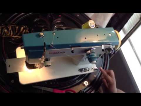 White Sewing Machine Model 40 How To Wind Your Bobbin YouTube Gorgeous How To Thread A White Sewing Machine Model 1477