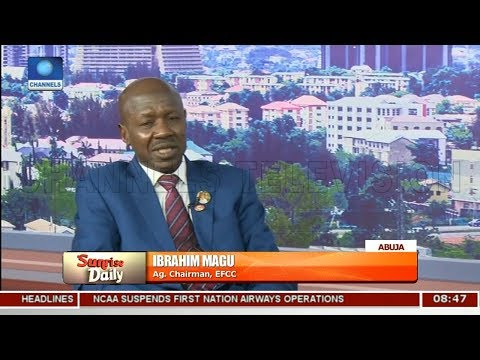 Acting EFCC Chairman, Magu Insists 'No Sacred Cow' In Corruption Fight Pt.1 |Sunrise Daily|