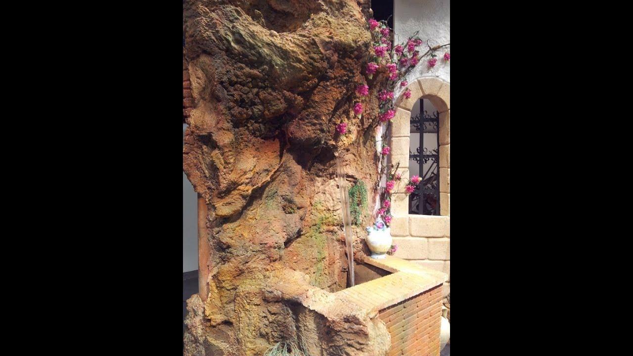 Imitaci n gruta fuente de piedra con espuma de for Cascadas para jardin piedra