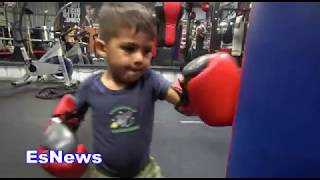 ((EPIC)) At Just 2 Years Old Mikey Garcia Son Has Boxing Skills EsNews Boxing