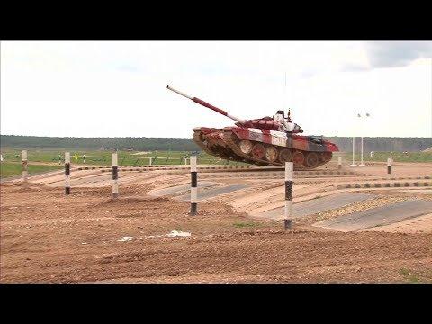Выступление третьего экипажа РФ на «Танковом биатлоне»: лучшие моменты