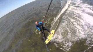 1st time Kiteboarding for the season - Good winds, Great times