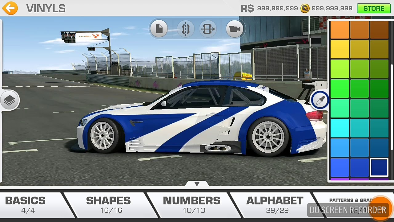 How to make bmw m3 gtr in real racing 3