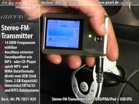 auvisio Stereo-FM-Transmitter mit USB für MP3-Musik im Autoradio