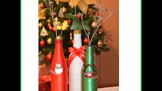 Botellas decoradas para Navidad