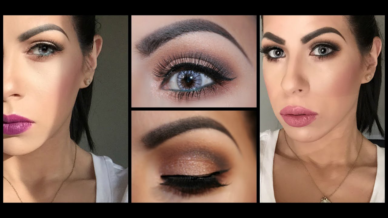 Easy and Subtle Half Cut Crease Valentines Day Makeup ...