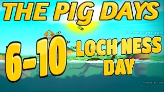 Angry Birds Seasons-The Pig Days Level {6-10} Loch Ness Day Three Star Walkthrough