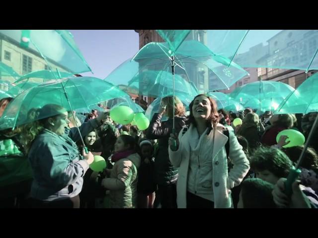 Acto de la AECC de Pontevedra con motivo del Día Mundial Contra el Cáncer
