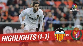 Highlights Valencia CF vs Real Valladolid (1-1)