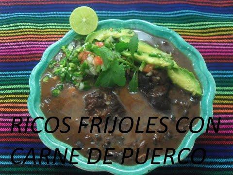 RICOS FRIJOLES CON CARNE DE PUERCO (LOS ANGELES COCINAN)