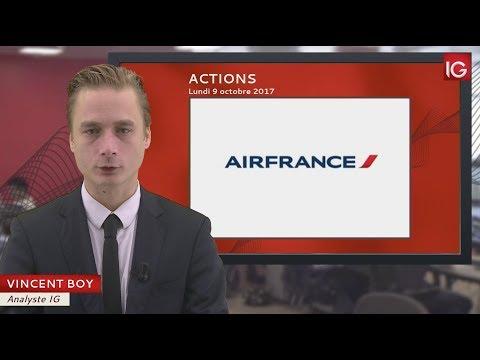 Bourse - Action Air France KLM, hausse du trafic en septembre - IG 09.10.2017